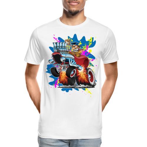 Funny Hot Rod Car Cartoon - Men's Premium Organic T-Shirt