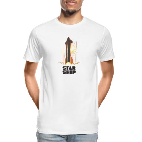 Star Ship Mars - Light - Men's Premium Organic T-Shirt