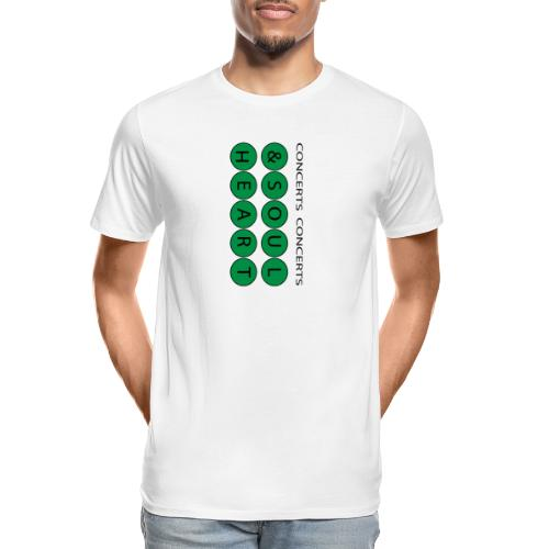 Heart & Soul Concerts text design - Mother Earth - Men's Premium Organic T-Shirt