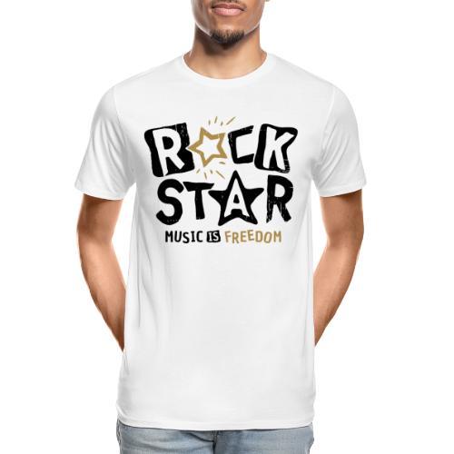 rock star music freedom - Men's Premium Organic T-Shirt