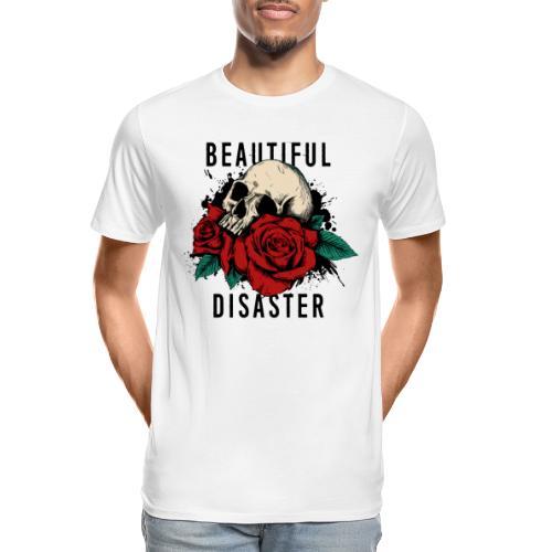 skull roses - Men's Premium Organic T-Shirt