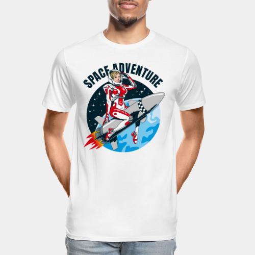 space adventure rocket girl - Men's Premium Organic T-Shirt