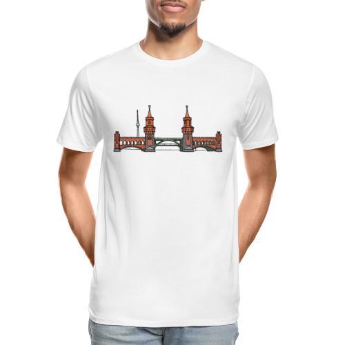 Oberbaum Bridge Berlin - Men's Premium Organic T-Shirt