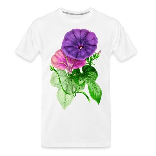 Vintage Mallow flower - Men's Premium Organic T-Shirt