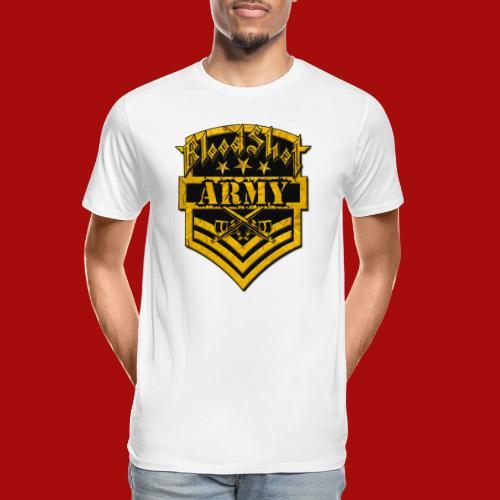 BloodShot ARMYLogo Gold /Black - Men's Premium Organic T-Shirt