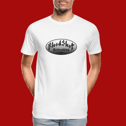 BloodShot Logo Black/White - Men's Premium Organic T-Shirt