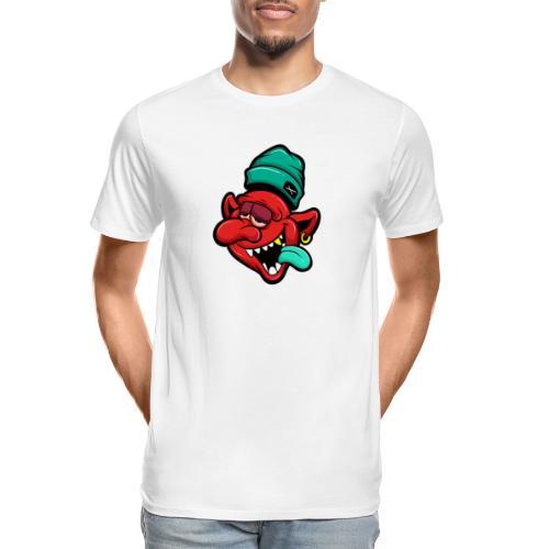evil tipsy cartoon - Men's Premium Organic T-Shirt