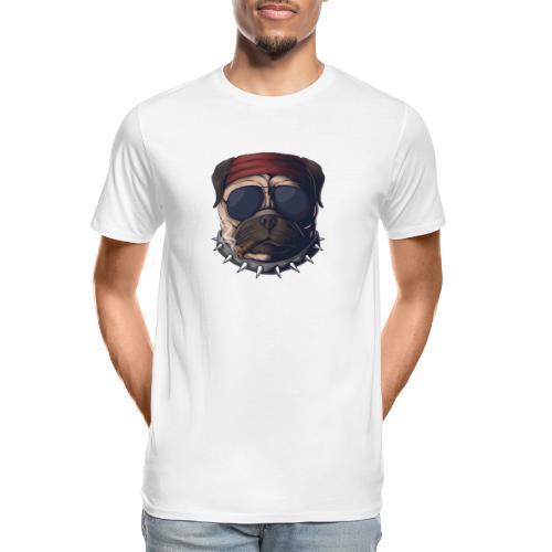 Dog head smoke - Men's Premium Organic T-Shirt