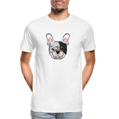 pngtree french bulldog dog cute pet - Men's Premium Organic T-Shirt