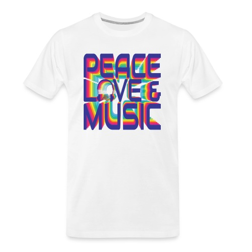Peace, Love & Music - Men's Premium Organic T-Shirt