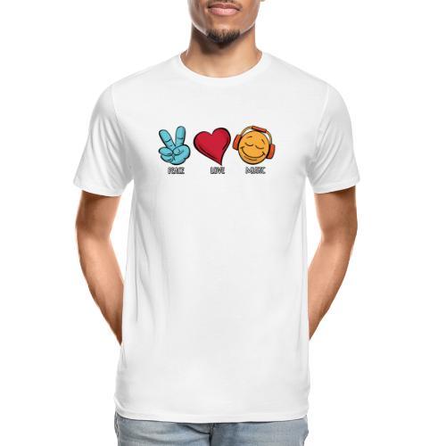 Peace Love Music - Men's Premium Organic T-Shirt