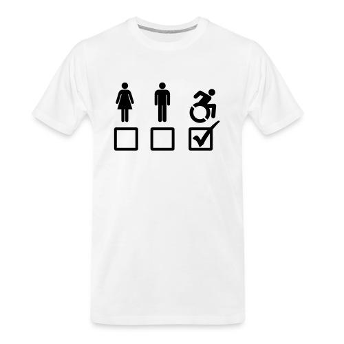 A wheelchair user is also suitable - Men's Premium Organic T-Shirt