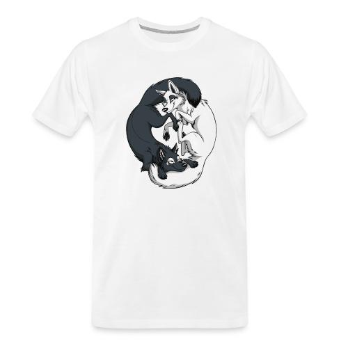 Yin Yang Foxes - Men's Premium Organic T-Shirt