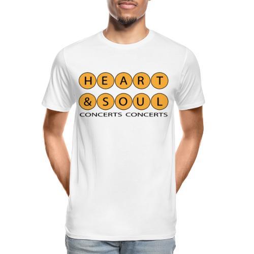 Heart Soul Concerts Golden Bubble horizon - Men's Premium Organic T-Shirt