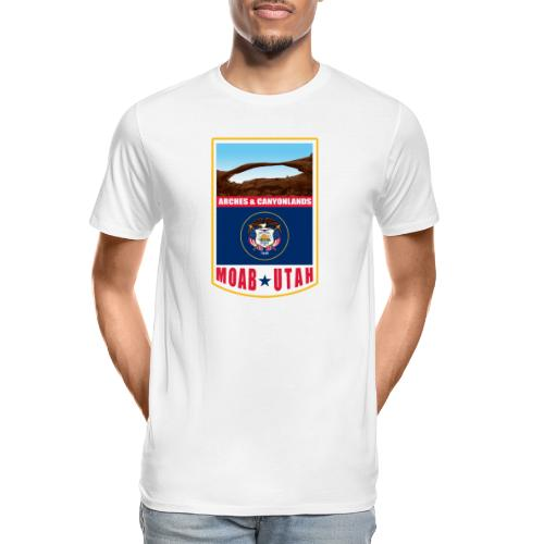 Utah - Moab, Arches & Canyonlands - Men's Premium Organic T-Shirt