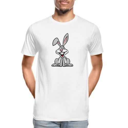 Silly Bunny Rabbit Cartoon - Men's Premium Organic T-Shirt
