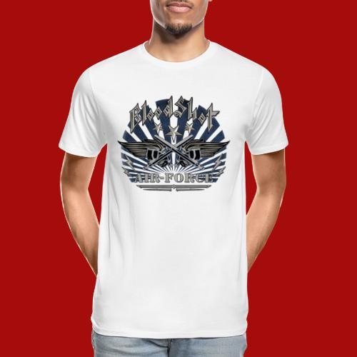BloodShot Air Force with black - Men's Premium Organic T-Shirt