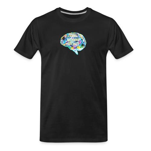 brain fact - Men's Premium Organic T-Shirt