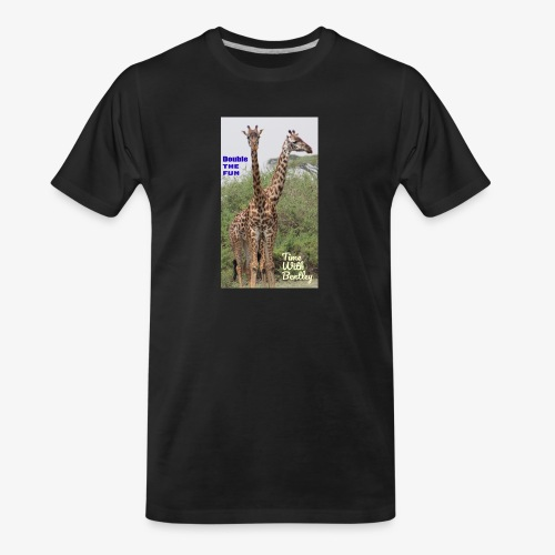 Two Headed Giraffe - Men's Premium Organic T-Shirt