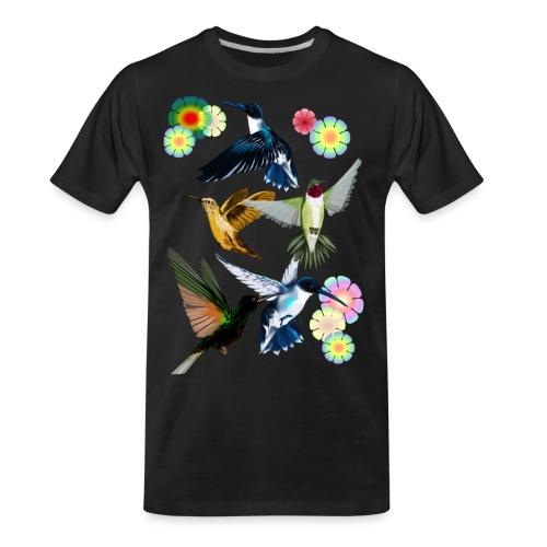 For The Love Of Hummingbirds - Men's Premium Organic T-Shirt