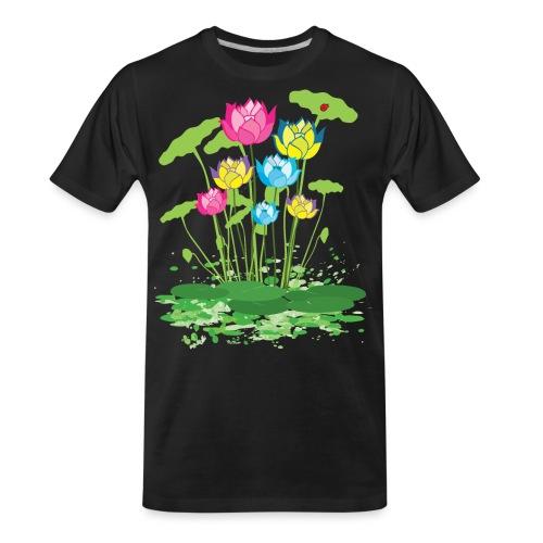 colorful waterlilies flowers - Men's Premium Organic T-Shirt