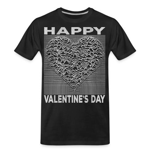 Love Lines Happy Valentines Day Heart - Men's Premium Organic T-Shirt