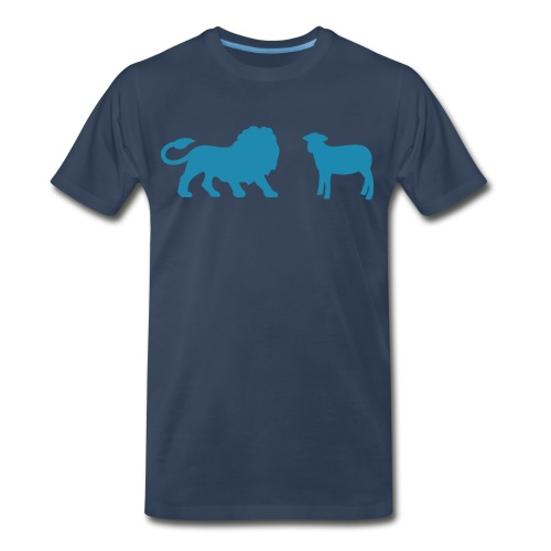 Lion and the Lamb - Men's Premium Organic T-Shirt