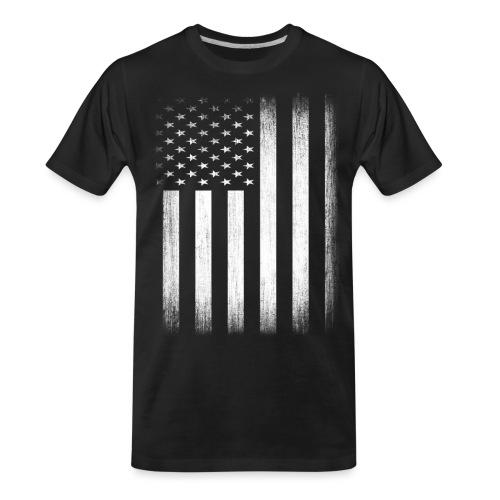 US Flag Distressed - Men's Premium Organic T-Shirt