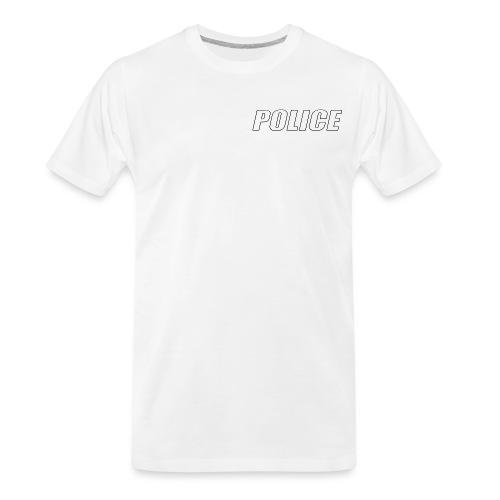 Police White - Men's Premium Organic T-Shirt