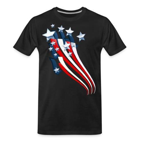 Sweeping American Flag - Men's Premium Organic T-Shirt