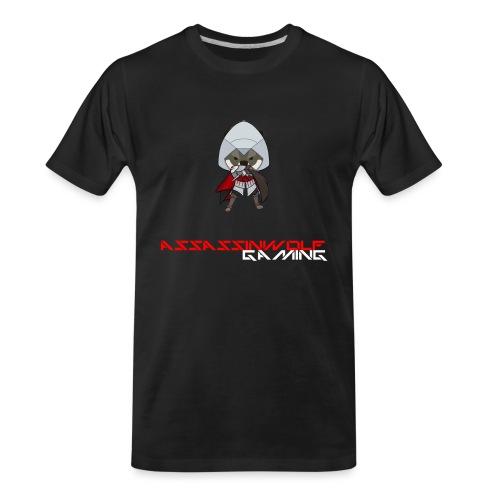 heather gray assassinwolf Tee - Men's Premium Organic T-Shirt