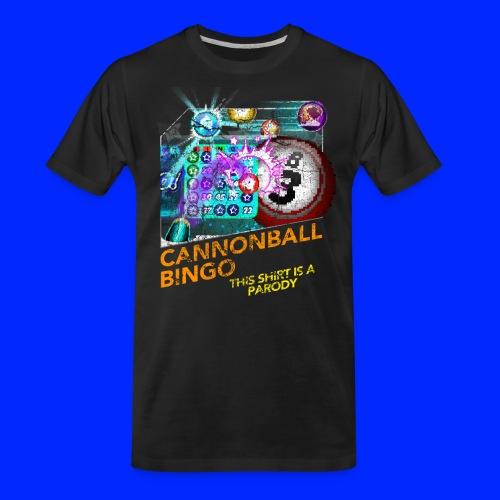 Vintage Cannonball Bingo Box Art Tee - Men's Premium Organic T-Shirt