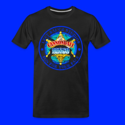 Vintage Cannonball Bingo Badge Blue - Men's Premium Organic T-Shirt