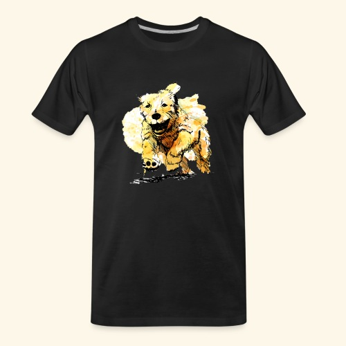 oil dog - Men's Premium Organic T-Shirt