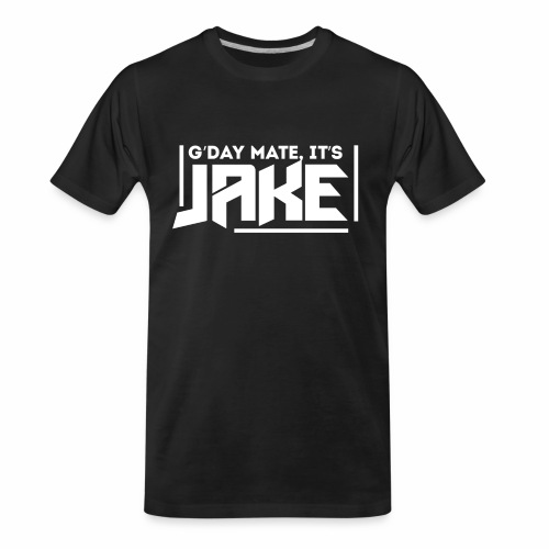 G'Day Mate It's Jake White Logo - Men's Premium Organic T-Shirt