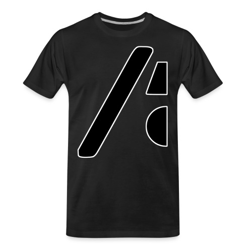 Half the logo, full on style - Men's Premium Organic T-Shirt