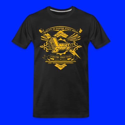 Vintage Leet Sauce Studios Crest Gold - Men's Premium Organic T-Shirt