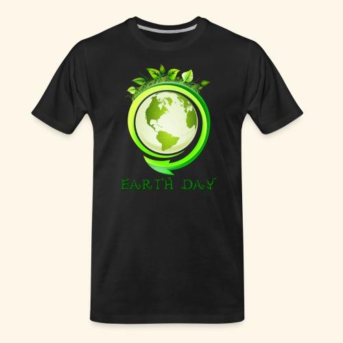 Happy Earth day - 2 - Men's Premium Organic T-Shirt