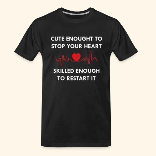 I am a nurse - 2 - Men's Premium Organic T-Shirt