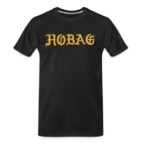 BLACK - HOBAG LETTERING - Men's Premium Organic T-Shirt