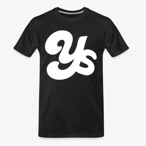 White logo - Men's Premium Organic T-Shirt