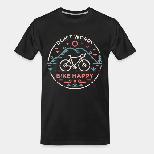 don't worry bike happy - Men's Premium Organic T-Shirt