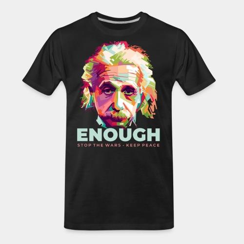 einstein peace war - Men's Premium Organic T-Shirt