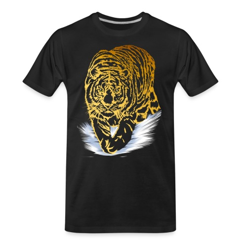 Golden Snow Tiger - Men's Premium Organic T-Shirt
