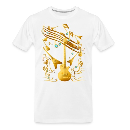 Gold Guitar Party - Men's Premium Organic T-Shirt