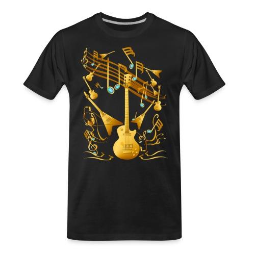 Gold Guitar Party - Men's Premium Organic T-Shirt