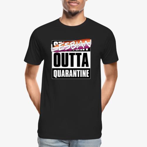 Lesbian Outta Quarantine - Lesbian Pride - Men's Premium Organic T-Shirt