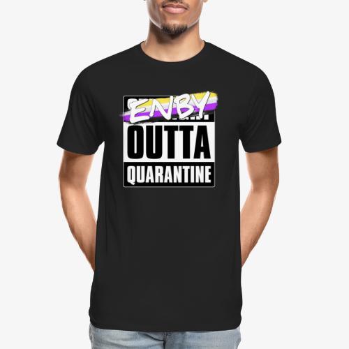 Enby Outta Quarantine - Nonbinary Pride - Men's Premium Organic T-Shirt