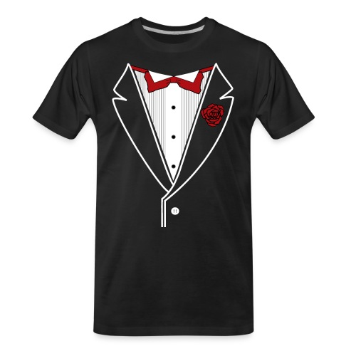 Tuxedo with Red bow tie - Men's Premium Organic T-Shirt