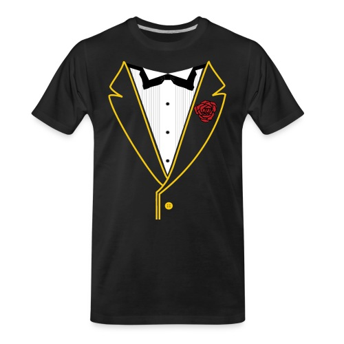 FUNK TUX - GOLD LINE - Men's Premium Organic T-Shirt